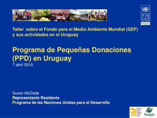 Taller  sobre el Fondo para el Medio Ambiente Mundial (GEF) y sus actividades en el Uruguay