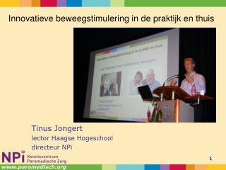 Tinus Jongert lector Haagse Hogeschool directeur NPi