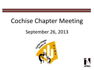 Cochise Chapter Meeting September 26,  2013