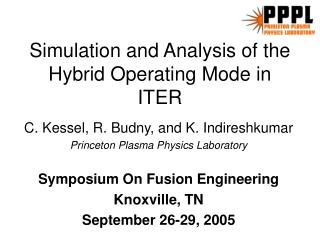 Simulation and Analysis of the Hybrid Operating Mode in ITER