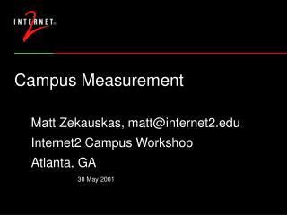 Campus Measurement