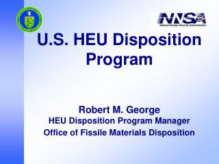 The U.S. HEU Disposition Program