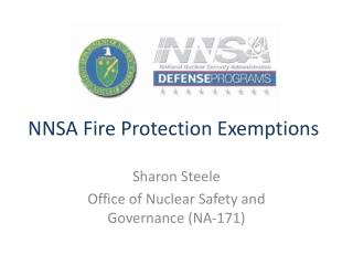 NNSA Fire Protection Exemptions
