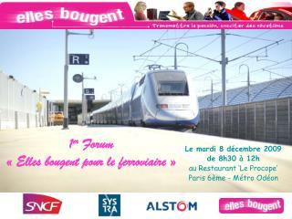 1er Forum    Elles bougent pour le ferroviaire
