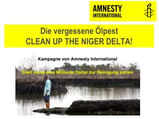 Die vergessene Ölpest CLEAN UP THE NIGER DELTA!