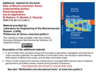 Additional  material for the book:     Atlas of Muscle Innervation Zones: