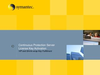 Continuous Protection Server License Key Activation