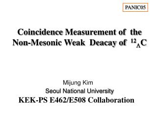Coincidence Measurement of  the  Non-Mesonic Weak  Deacay of   12  C