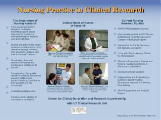 Nursing Practice in Clinical Research