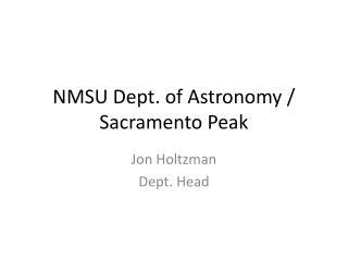 NMSU Dept. of Astronomy / Sacramento Peak
