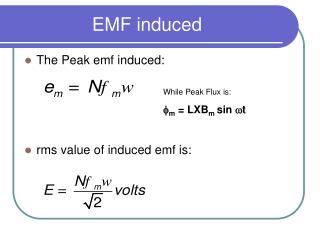 EMF induced
