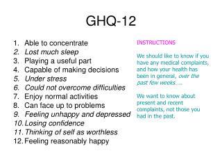 GHQ-12