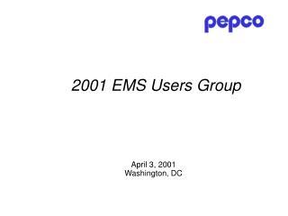 April 3, 2001  Washington, DC