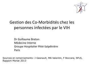 Gestion des Co-Morbidités chez les personnes infectées par le VIH