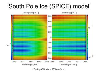 South Pole Ice (SPICE) model