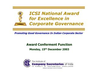 ICSI National Award for Excellence in Corporate Governance