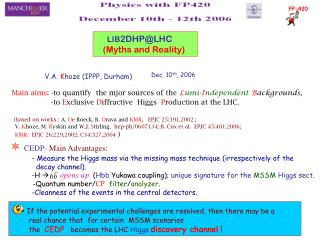 LIB 2DHP@LHC (Myths and Reality)