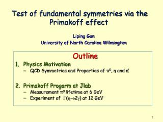 Test of fundamental symmetries via the Primakoff effect