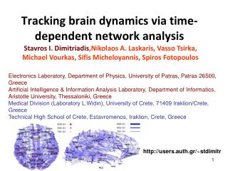Tracking brain dynamics via time-dependent network analysis
