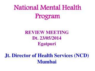 National Mental Health Program