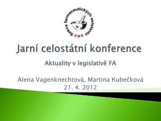 Jarní celostátní konference
