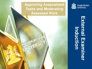 Approving Assessment Tasks and Moderating Assessed Work