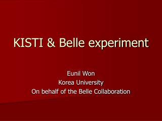 KISTI & Belle experiment