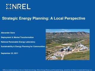 Strategic Energy Planning: A Local Perspective