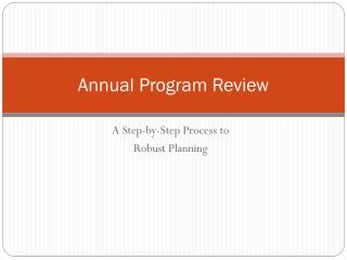 Annual Program Review