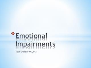Emotional Impairments