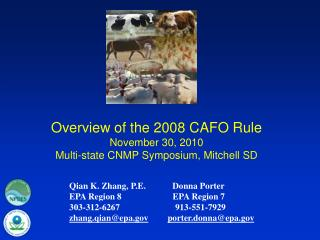 Overview of the 2008 CAFO Rule  November 30, 2010 Multi-state CNMP Symposium, Mitchell SD