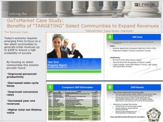 """GoToMarket Case Study: Benefits of """"TARGETING"""" Select Communities to Expand Revenues"""