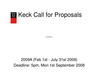 Keck Call for Proposals