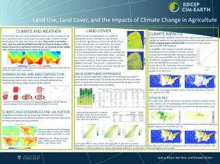 Land Use, Land Cover, and the Impacts of Climate Change in Agriculture