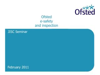 Ofsted  e-safety and inspection