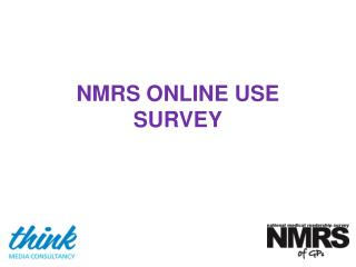 NMRS ONLINE USE SURVEY