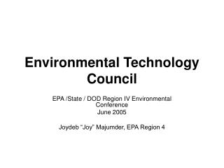 Environmental Technology Council