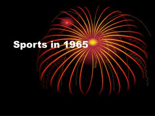Sports in 1965