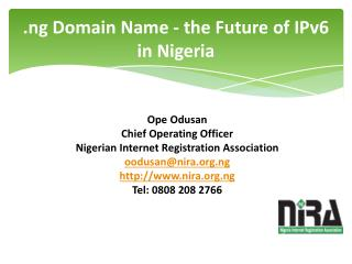 .ng Domain Name - the Future of IPv6 in Nigeria