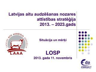 Latvijas aitu audzēšanas nozares attīstības stratēģija 2013. – 2023.gads