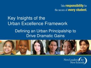 Key Insights of the  Urban Excellence Framework