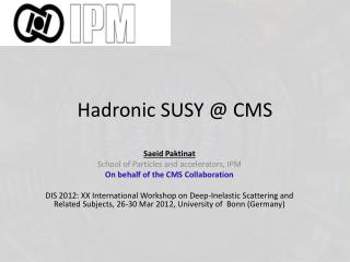Hadronic  SUSY @ CMS