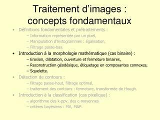 Traitement d'images : concepts fondamentaux