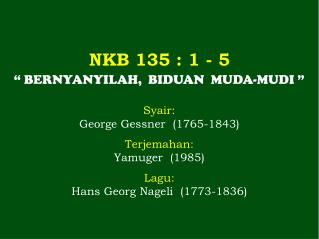 NKB 135  : 1 -  5