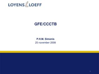 GFE/CCCTB