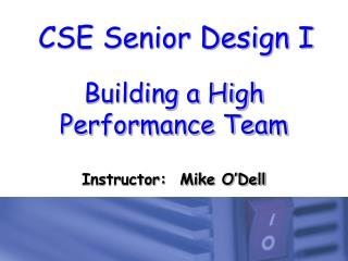 Building a High Performance Team