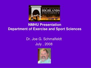 NMHU Presentation Department of Exercise and Sport Sciences