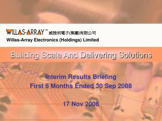 Building Scale And Delivering Solutions