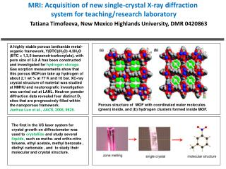MRI: Acquisition of new single-crystal X-ray diffraction system for teaching/research laboratory