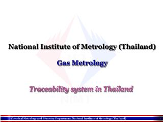 National Institute of Metrology (Thailand) Gas Metrology